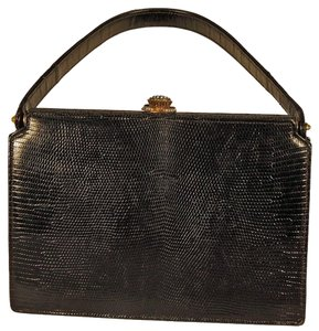 54aa03b83b9d9c Koret Vintage Art Deco Box Satchel in Black