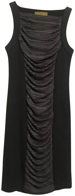 Item - Brown Gray Pleat Body Con Mid-length Short Casual Dress Size 4 (S)
