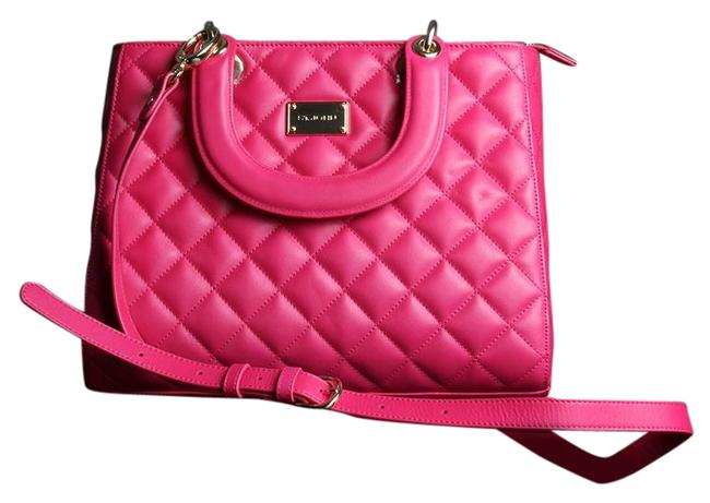 Item - Quilted Hot Pink Leather Satchel