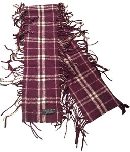 Burberry Authentic Buberry plum happy scarf
