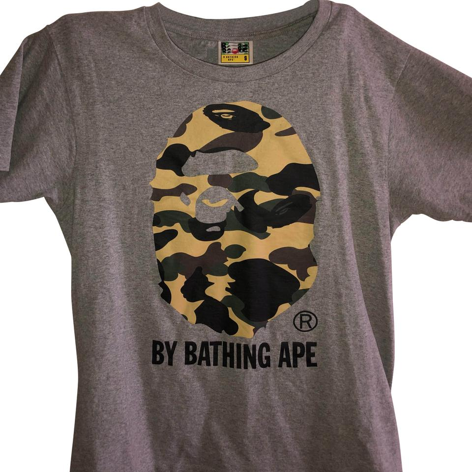 1ae48422 Bape Grey/Camo 1st By Bathing Ape Tee Shirt Size 4 (S) - Tradesy