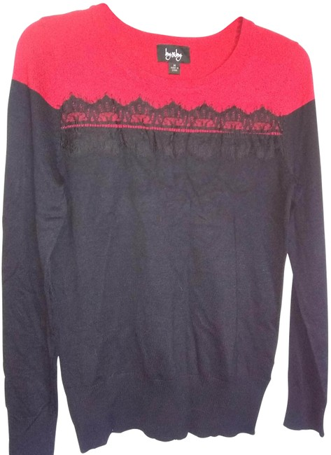 Item - With Lace Red/Black Sweater
