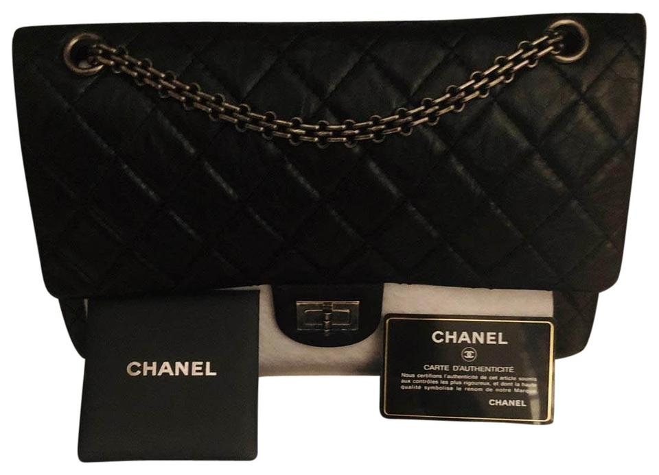 096661be6be4 Chanel 2.55 Reissue 226 Rhw Black Calfskin Leather Cross Body Bag ...