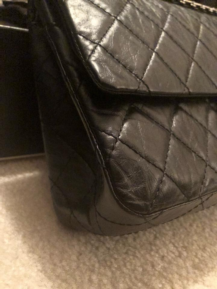 6d1e65fe7066 Chanel 2.55 Reissue 226 Rhw Black Calfskin Leather Cross Body Bag - Tradesy