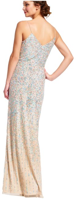 Item - Multicolor Beaded Spaghetti Strap Gown Long Formal Dress Size 6 (S)