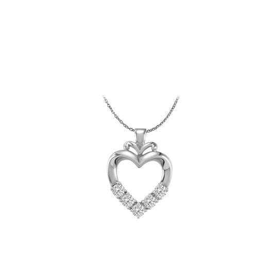 Preload https://img-static.tradesy.com/item/25028182/white-best-seller-five-stone-cz-family-heart-pendant-14k-gold-necklace-0-0-540-540.jpg