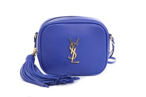f757f916d2 Saint Laurent Ysl Monogram Blogger Calfskin Cross Body Bag