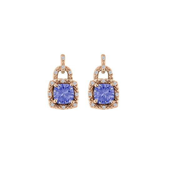 Preload https://img-static.tradesy.com/item/25028212/blue-tanzanite-cz-stud-push-back-14k-rose-gold-earrings-0-0-540-540.jpg