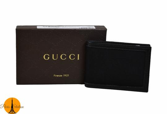 Gucci Gucci Black GG Canvas Bi-Fold Wallet Image 7