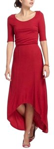 red Maxi Dress by Anthropologie Bordeaux Maxi