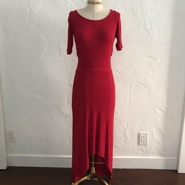 red Maxi Dress by Anthropologie Bordeaux Maxi Image 1