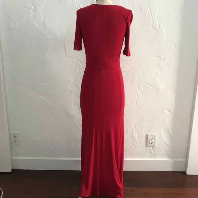 red Maxi Dress by Anthropologie Bordeaux Maxi Image 2