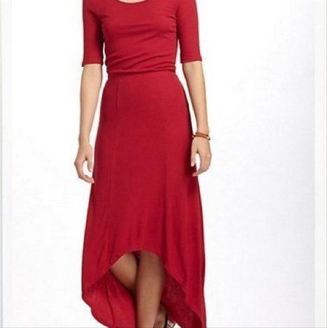 red Maxi Dress by Anthropologie Bordeaux Maxi Image 3