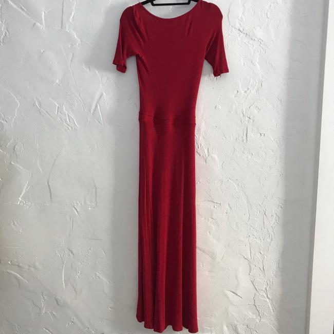 red Maxi Dress by Anthropologie Bordeaux Maxi Image 5