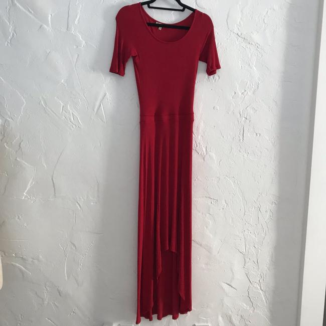 red Maxi Dress by Anthropologie Bordeaux Maxi Image 7