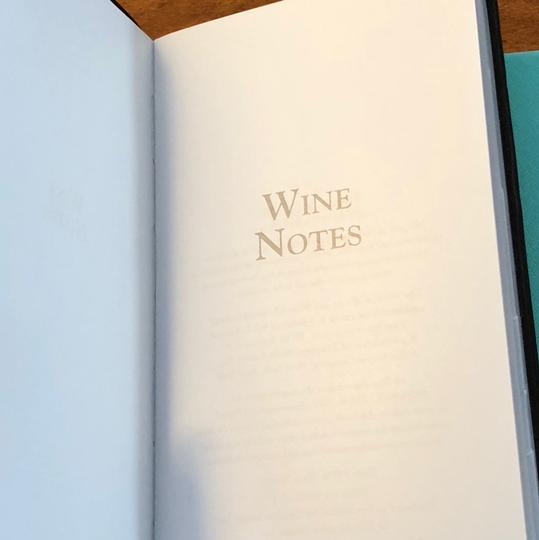 Tiffany & Co. Wine Notes Notebook Image 3