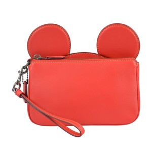 Coach X Disney Disney Mickey Mickey Mouse Wristlet in Bright Red