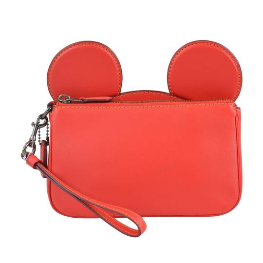 Preload https://img-static.tradesy.com/item/25028434/coach-mickey-ear-bright-red-leather-wristlet-0-0-540-540.jpg