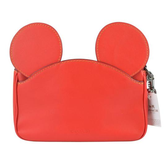 Coach X Disney Disney Mickey Mickey Mouse Wristlet in Bright Red Image 1