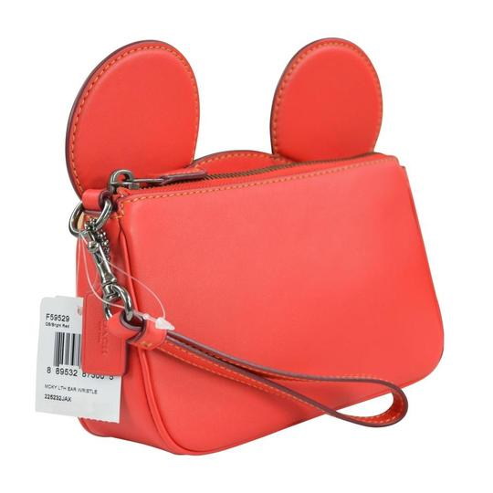 Coach X Disney Disney Mickey Mickey Mouse Wristlet in Bright Red Image 3