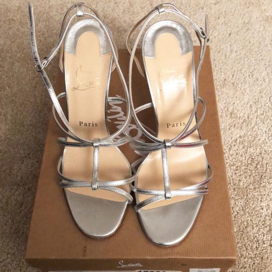 Christian Louboutin Silver Sandals Image 1