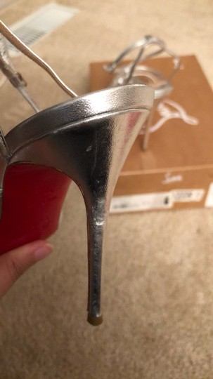 Christian Louboutin Silver Sandals Image 4