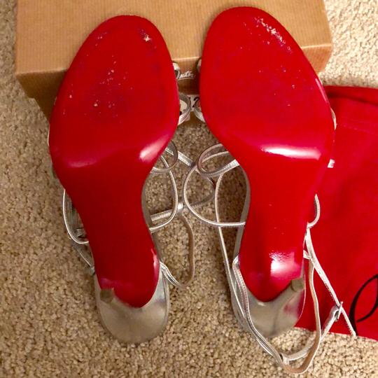 Christian Louboutin Silver Sandals Image 5