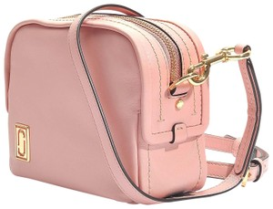 Marc Jacobs The Mini Squeeze Leather Designer Dusty Blush Cross Body Bag