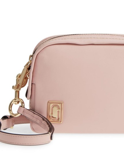 Marc Jacobs The Mini Squeeze Leather Designer Dusty Blush Cross Body Bag Image 1