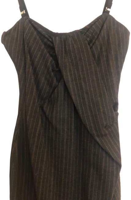 Preload https://img-static.tradesy.com/item/25028572/gray-pinstripe-ruched-corset-pencil-mid-length-night-out-dress-size-4-s-0-1-650-650.jpg