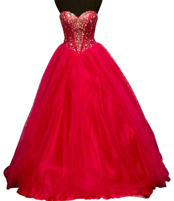 Item - Pink Hot Quince Gown Long Formal Dress Size 6 (S)