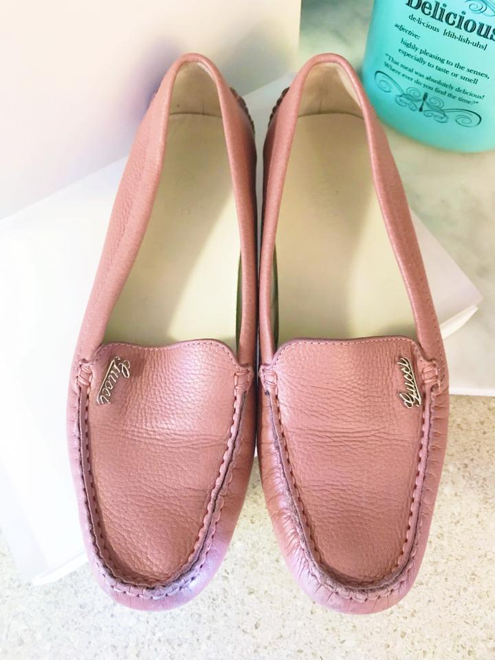3388bc86b6e5 Gucci Rose Pink Leather Driving   Loafers   Flats Size EU 36 (Approx ...