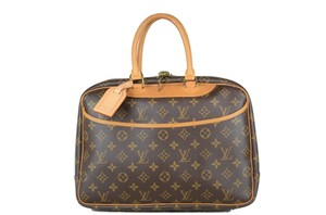 LOUIS VUITTON Deauville Leather Tote in Brown