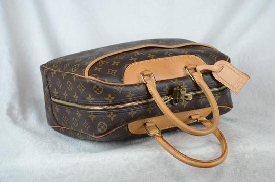 LOUIS VUITTON Deauville Leather Tote in Brown Image 11