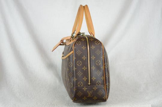 LOUIS VUITTON Deauville Leather Tote in Brown Image 3