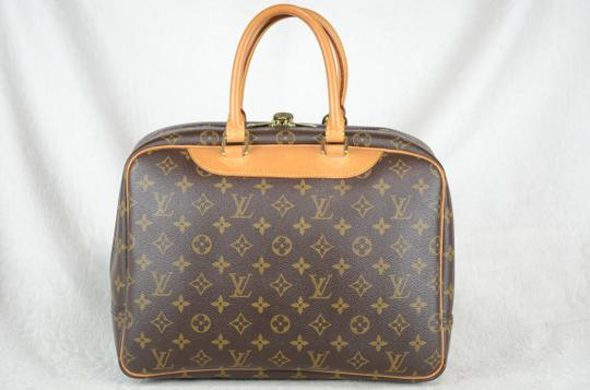 LOUIS VUITTON Deauville Leather Tote in Brown Image 6