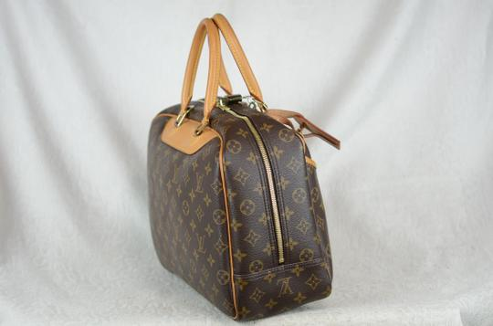 LOUIS VUITTON Deauville Leather Tote in Brown Image 9