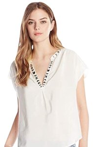 Joie Top offwhite and black