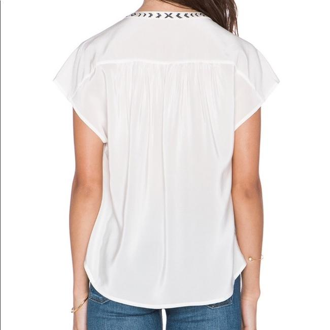 Joie Top offwhite and black Image 1