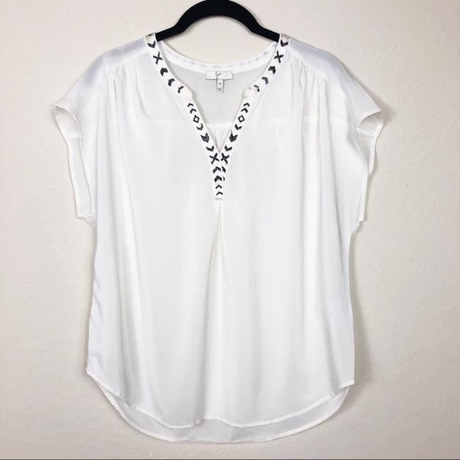 Joie Top offwhite and black Image 2
