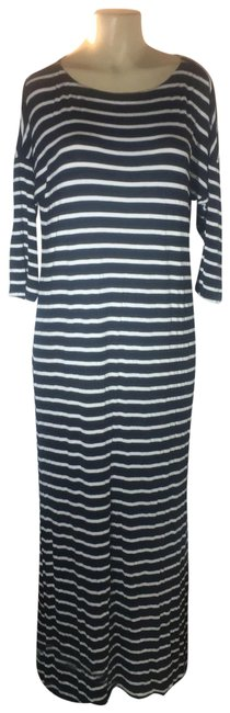 Item - Black and White Sexy Split Long Casual Maxi Dress Size 14 (L)