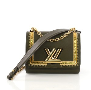 Louis Vuitton Limited Edition Lv Twist Monogram Shoulder Bag