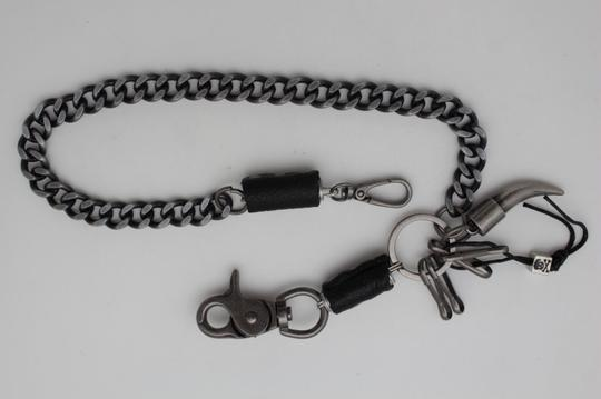 Alwaystyle4you Men Silver Metal Wallet Chunky Chain Links Skull KeyChain Horn Bull Image 3