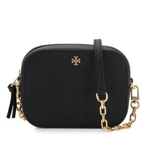 Tory Burch Round Leather Logo Cross Body Bag