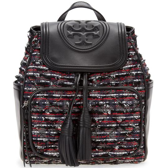 Preload https://img-static.tradesy.com/item/25029222/tory-burch-new-flap-tote-rare-black-tweed-and-leather-backpack-0-0-540-540.jpg