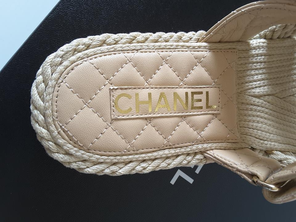 7b848a8b2 Chanel Beige Spring -summer 2019 Collection Cord Mules Sandals Size ...