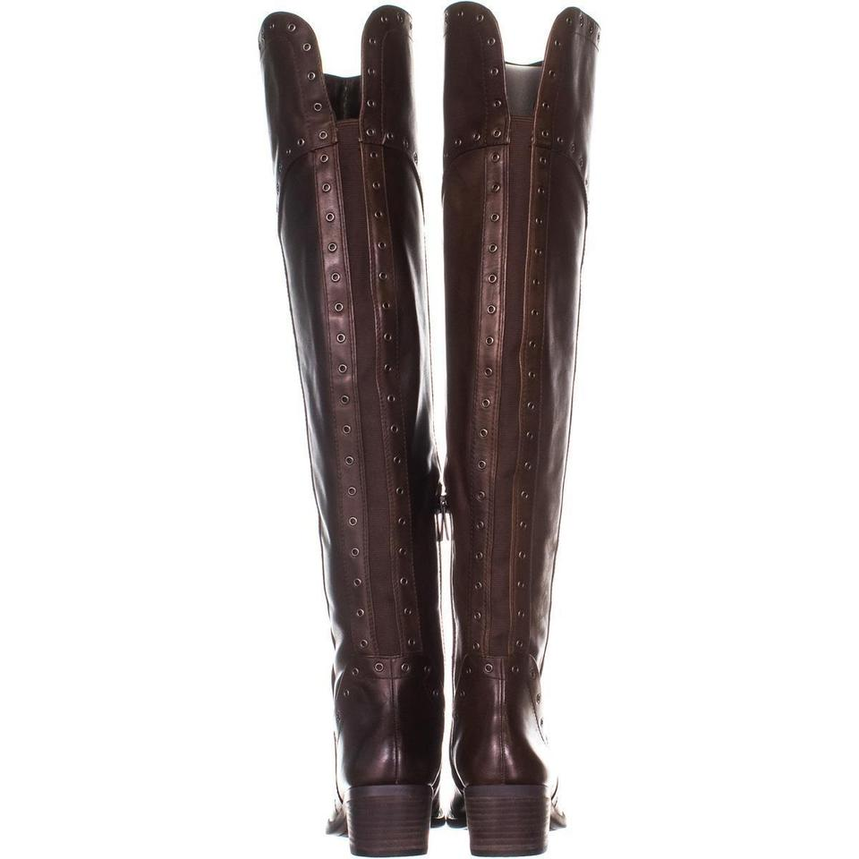 995ba82467b Vince Camuto Brown Bestan Studded Over The Knee 316 Carob Boots Booties  Size US 6.5 Regular (M