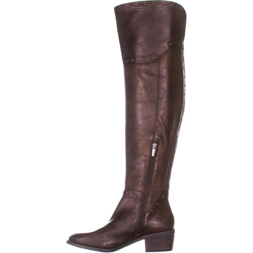 c7331f8358c Vince Camuto Brown Bestan Studded Over The Knee 316 Carob Boots ...