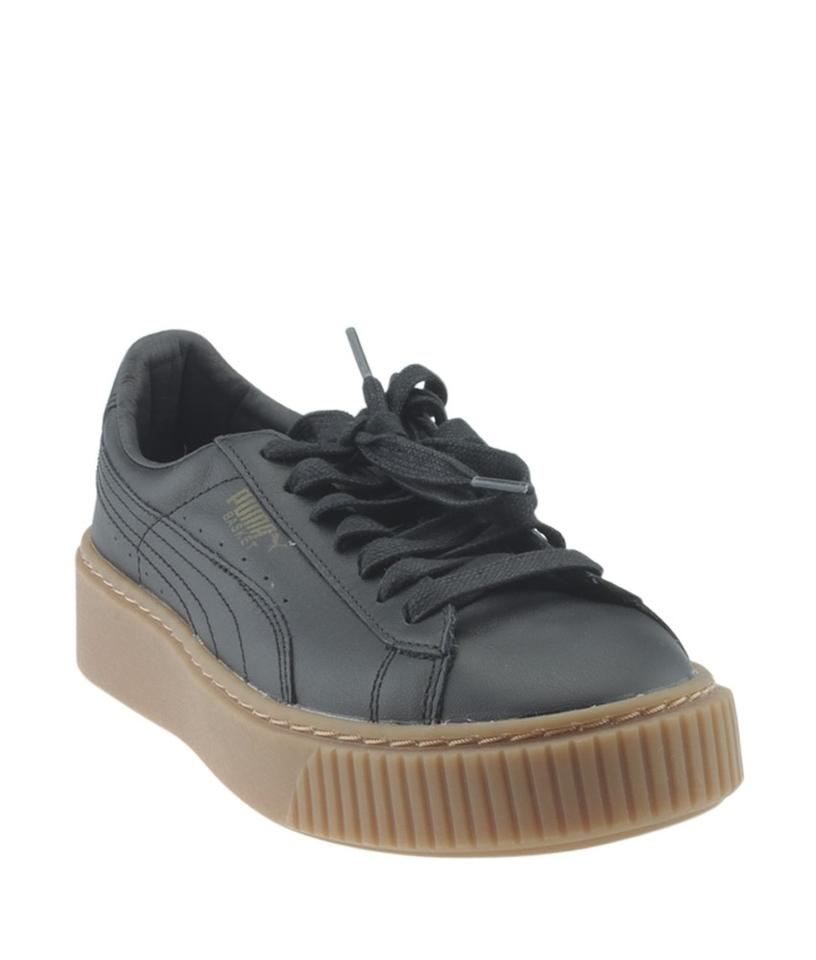 low priced ef06d 662d6 Puma Black 36404002 Basket Platform Core Sneakersx (168036) Flats Size US 6  Regular (M, B)