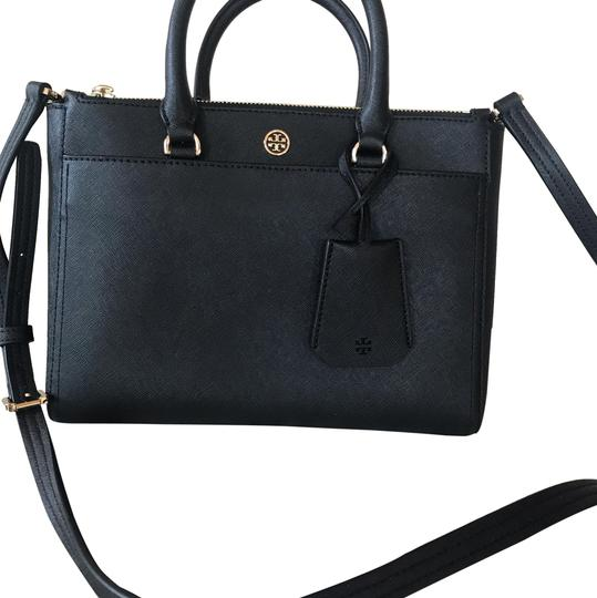 Preload https://img-static.tradesy.com/item/25029504/tory-burch-robinson-zip-top-black-leather-tote-0-1-540-540.jpg